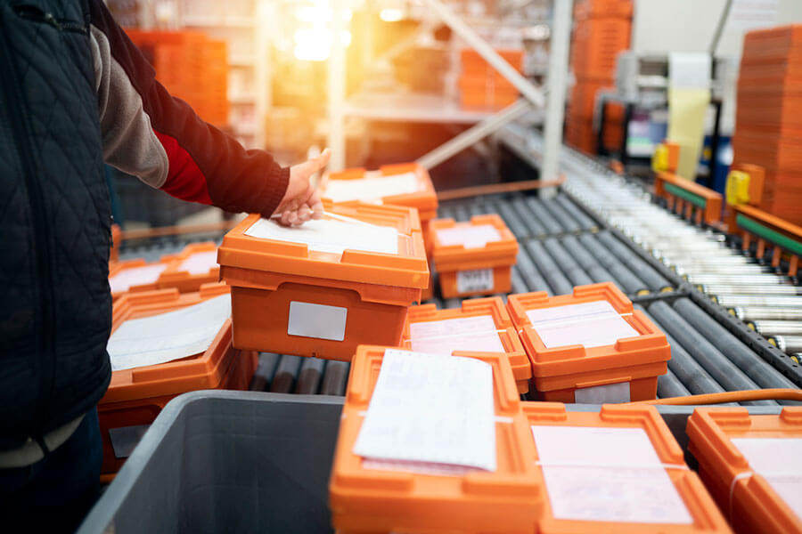 Fulfillment specialists performing pick, pack and ship services